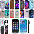 For LG Extravert 2 VN280 Design PATTERN Snap On HARD Case Phone Cover + Pen