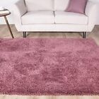 Cotswold Heather Purple Fluffy Furry Deep Thick Soft Shaggy Area Room Rug Mat