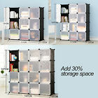 Durable Interlocking Cube Plastic Storage Bookcase Organizer Holder Shelves