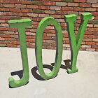 "40"" JOY Rustic Metal Vintage Style Marquee Christmas Sign Letters - 14 COLORS!"