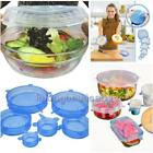 6pcs Silicone Vacuum Storage Lids Food Fresh Bowl Plate Stretch Sealer Cover Pad
