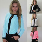 New Womens Summer Casual Long Sleeve Tops Shirt Ladies Loose T-shirt Blouse UK