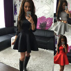 Top Fashion Women Bodycon 3/4 Sleeve Sexy Slim Mini Vintage Evening Party Dress