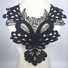 Womens Lace Embroidered Floral Neckline Collar Trim Bridal Dress Sewing Applique