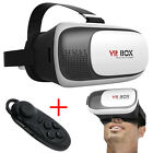 VR BOX V2.0 Virtual Reality 3D Glasses For Samsung Galaxy S7 S6 Edge + Gamepad
