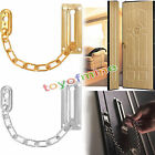 Home Safety Satin Chrome Finish Chain Door Guard Security Lock Cabinet Latches