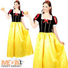 Snow White Princess Long Fancy Dress Fairytale Ladies Costume Outfit UK 6-22
