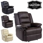 LOXLEY LEATHER RECLINER ARMCHAIR SOFA HOME LOUNGE CHAIR RECLINING GAMING