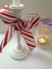 PEPPERMINT CANDY CANE Glitter Christmas 38mm -Luxury Wire Edge Ribbon LAST STOCK