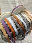 VINTAGE STRIPE **textured** woven Ribbon - 12mm - 6 shades & various lengths NEW