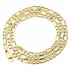 Genuine 10K Yellow Gold Figaro Chain 3.50mm Necklace High Polished 16-30 Inches