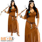 Indian Summer Ladies Fancy Dress Native American Western Womens Adults Costume
