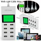 Rapid Multi 8 Ports USB Wall Desktop Power Charger Supply Socket Smart Charger