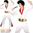 Elvis Presley Mens Fancy Dress Celebrity Rock N Roll King Adults Costume Outfit