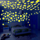 100PCS 3D STARS GLOW IN THE DARK CEILING WALL STICKERS LIVING HOME DECOR IDEAL
