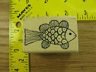 Rubber Stamp Cute Fish by Magenta Stampinsisters #1526