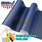 *3D Carbon Fiber Texture Matte Blue Vinyl Car Wrap Sticker Decal Film Sheet DIY