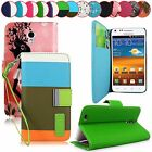 For Samsung Galaxy S2 D710 PU Leather Card Holder Flip Stand Wallet Case Cover