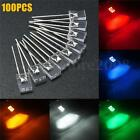 100pcs 2x5x7mm Square LED Diodes Water Clear White Yellow Red Blue Rectangular