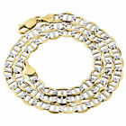 Real 10K Yellow Gold Diamond Cut Solid Mariner Chain 5.25mm Necklace 16-30 Inch