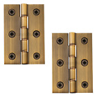 Washered Door Hinges Antique Brass Internal Butt Door Hinge Phosphor Washers