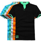 Fashion Men's Boys Stand-Collar Stylish POLO Shirts T shirts Tops Tee M-XXXL New