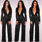 SEXY Women Ladies V Neck Long sleeve Playsuit Bodycon Party Jumpsuit Romper 5051