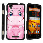 For ZTE Max Boost N9520 Case Hard Snap On 2 Piece Slim Shell Cartoons