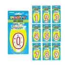 Numeral GLITTER Birthday CANDLE & Cake Decoration (Numbers 0 - 9) {Unique}
