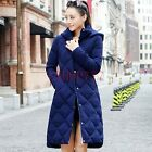 New Ladies Winter Hooded Slim Fit Casual Long Duck Down Jacket Stylish Warm Coat