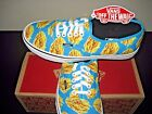 Vans Authentic Mens Late Night Blue Atoll Fries Canvas Shoes VN0004MKIFB NWT
