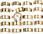 Wholesale Lots 12pcs fashion Gold Mixed Pattern Men's Stainless Steel Rings new