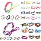 Handmade Knot Wide Wristband Woven Friendship Cuff Bracelets Gift Candy Colors