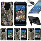For HTC Desire 626 & 626s | Dual Bumper Case Kickstand Tree Bark Hunter Camo