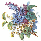 Ceramic Decals Purple Blue White Lilac Floral Flower image