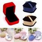 Fashion Velvet Engagement Wedding Earring Ring Display Box Pendant Jewelry Gift