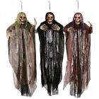 Внешний вид - Halloween Props 5 ft Grim Reaper Scary Ghost Skeleton Outdoor Decoration