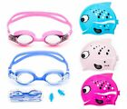 Внешний вид - Kids Swimming Goggles Adjustable Anti Fog + Silicone Swim Cap Cute Fish Flexible