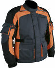 Weise Black Gunmetal Orange Mens Maverick Textile Motorcycle Jacket RRP £149.99!