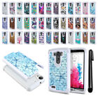 For LG G3 D850 D851 LS990 VS985 D855 Studded Bling HYBRID Case Phone Cover + Pen