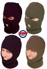 Mens Balaclava Army Military 3 Hole Full Face Hat Black Green Surplus SAS New