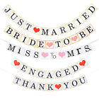 ENGAGED Banner Wedding Bridal Shower Party Bunting Hanging Decor