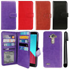 For LG G4 H815 F500 VS986 H810 Flip Magnetic Card Holder Wallet Cover Case + Pen