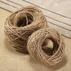 50/100M 2 Ply Natural Brown Jute Hemp Twine String Cord Shank Handmade Accessory