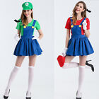 Halloween Super Mary Princess Dress COSPLAY Party Female Costume M - 2XL