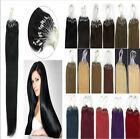 Easy Micro Loop Ring Beads I Tip Indian Remy Human Hair Extensions 16-26''100S