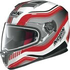 Nolan N86 N-Com Deep Street Helmet Metallic White/Red