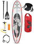 "TBF Model II 10'10"" Inflatable SUP Stand Up Paddle Board Deluxe Pack (Rojo)"