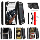 For HTC Desire 530 Armor Rugged Clip Holster Kicstand Case Sniper