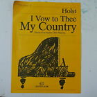 HOLST i vow to thee my country , easy piano music